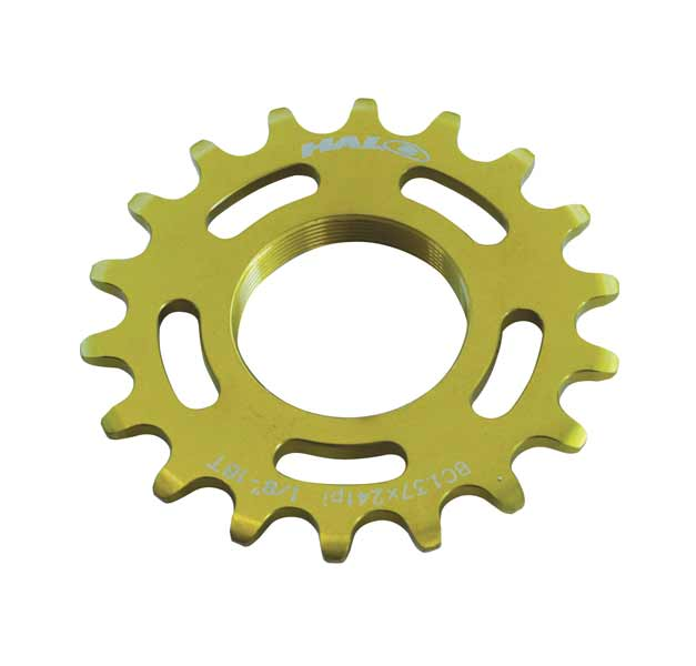 Halo Fixed Cog Track 1/8'' 1.37''x24T Fixie Gold 18T