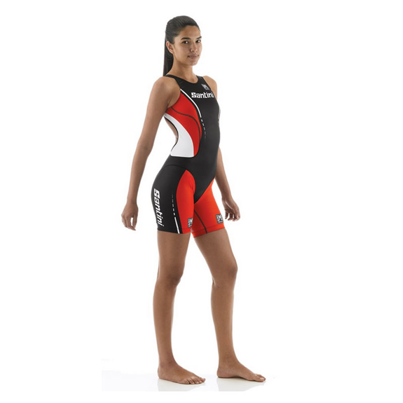 2014-Santini-Womens-Sleek-Skinsuit-Road-Bike-Summer-Cycling-Triathlon-Tri-Black