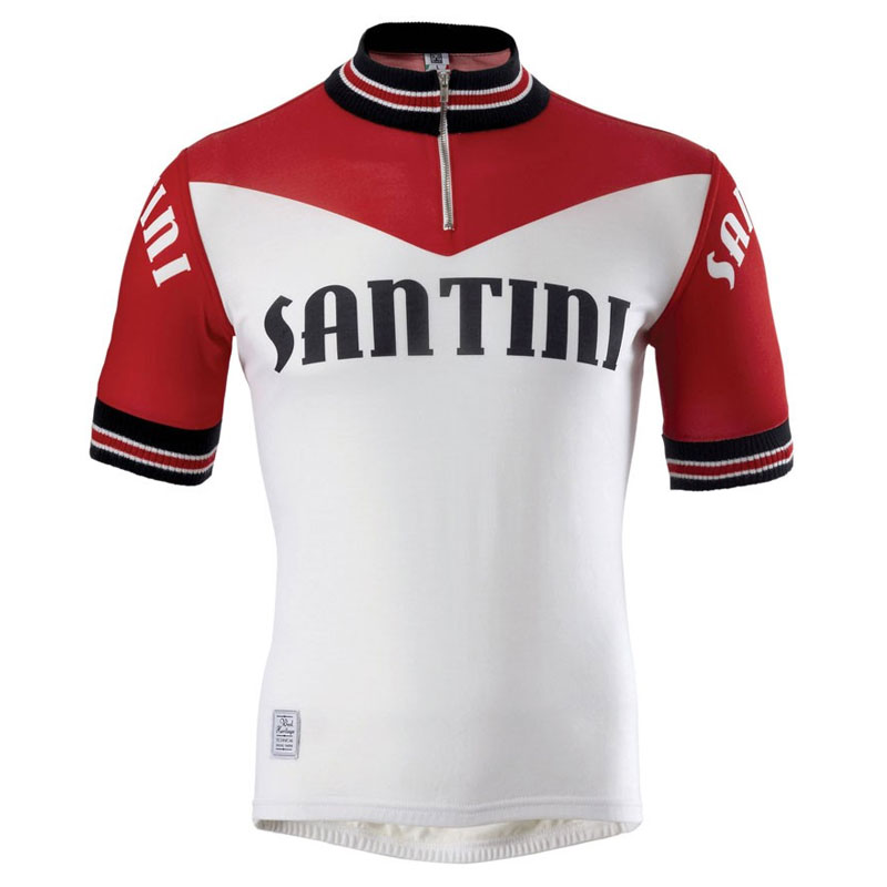 2014-Santini-Mens-Tech-Wool-Fixi-Road-Bike-Summer-Cycling-Jersey-Short-Sleeve