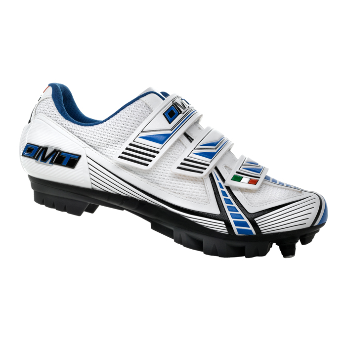 DMT MTB SPD Mountain Bike Shoe Marathon Kids Childrens 2.0 White Blue Black Enlarged Preview