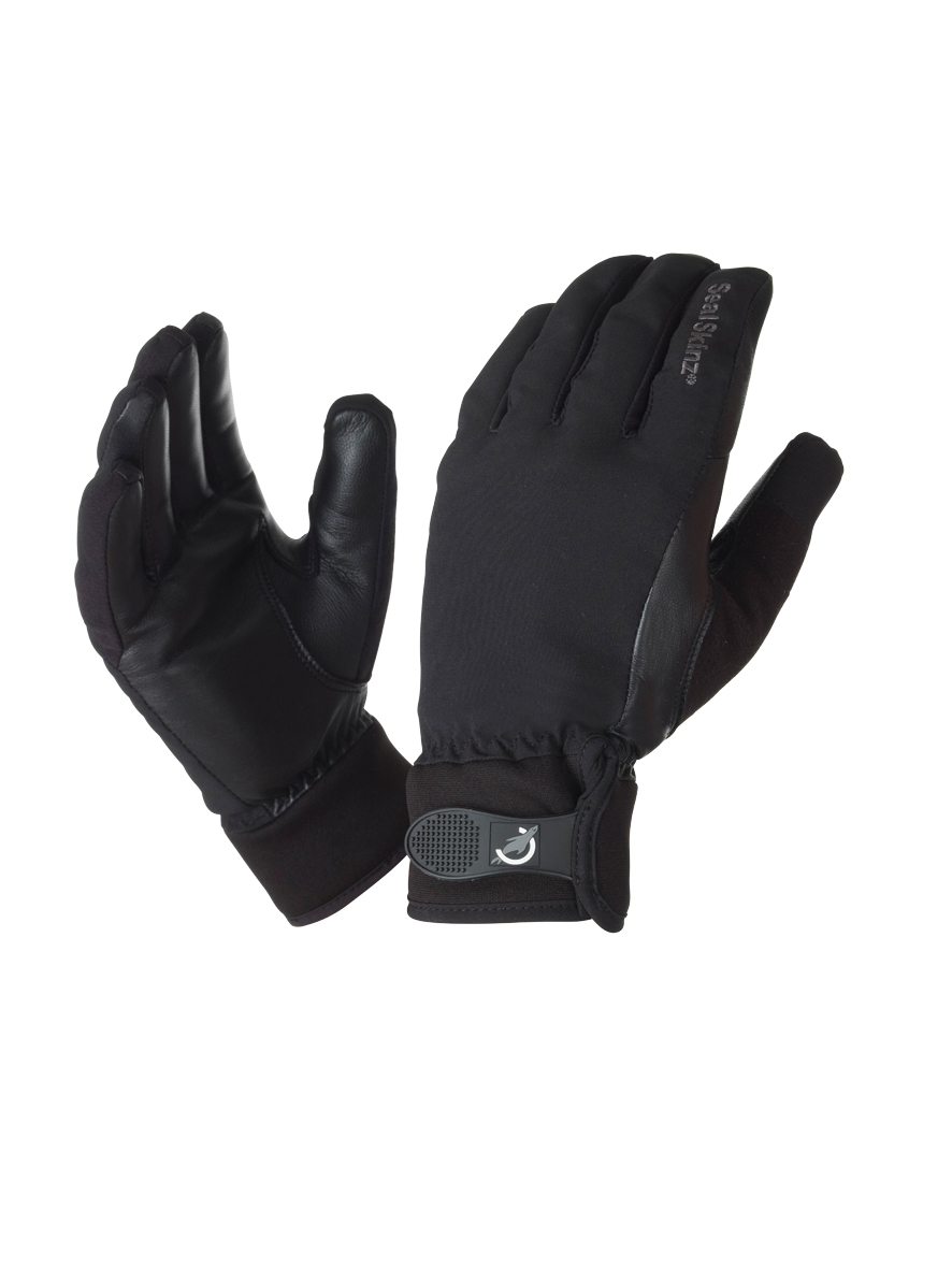 Black riding gloves - Sealskinz All Weather Waterproof Horse Riding Equestrian Gloves Black
