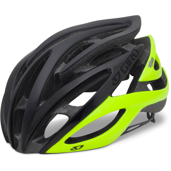 2013 Giro Atmos Road Bike Cycle Helmet matt black highlight yellow