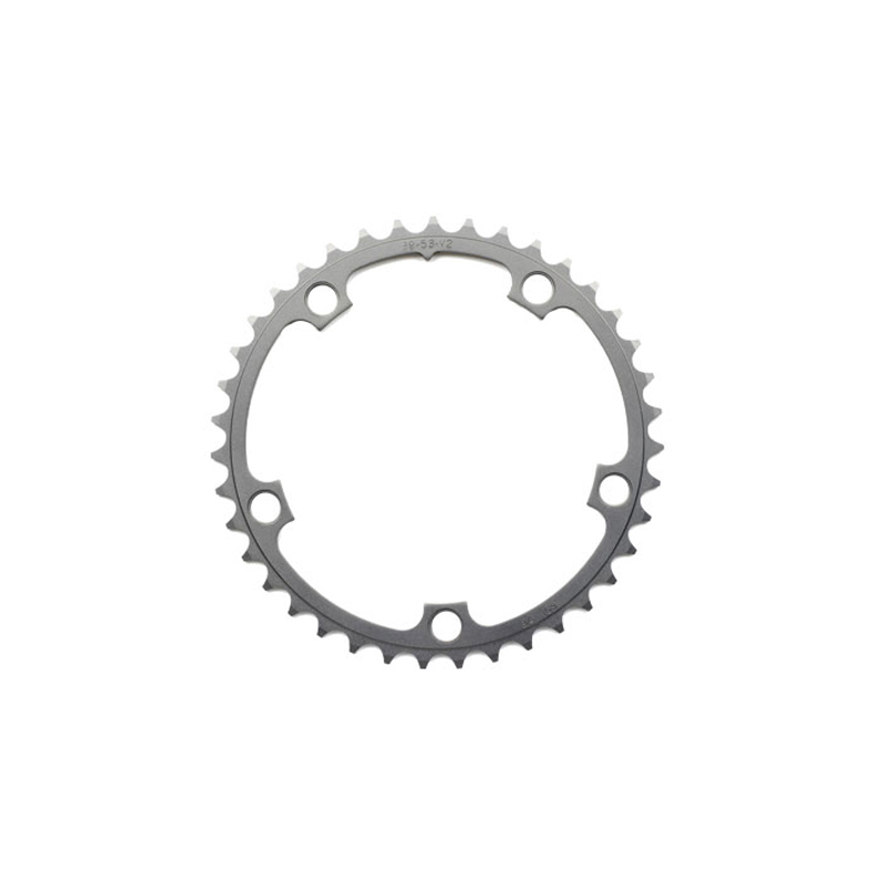 SRAM Chainring Ring Road 34t 5 Bolt 110mm BCD Alum (50-34) 3mm Tungsten Grey Enlarged Preview