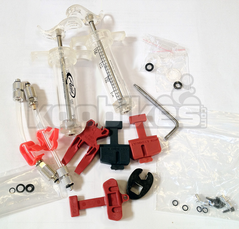 Avid Professional Bike Disc Brake Bleed Kit Service For Hydraulic Cycling Brake Enlarged Preview
