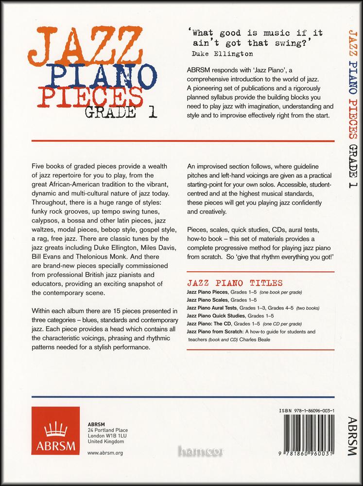 jazz piano pieces grade 1 pdf