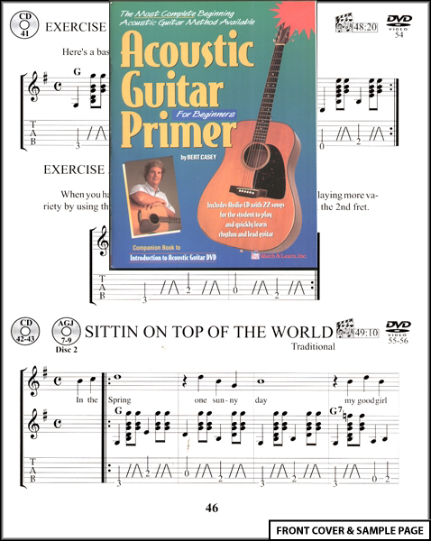 Acoustic Guitar Primer for Beginners TAB Book +CD NEW Enlarged Preview