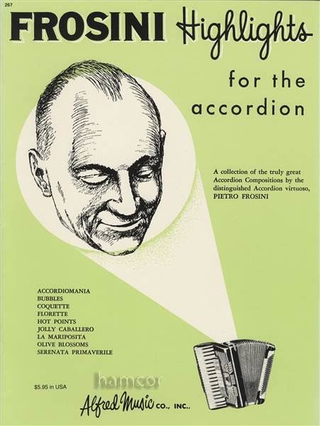 Pietro Frosini Highlights for the Accordion Palmer-Hughes Sheet Music Book Enlarged Preview