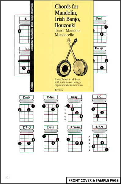 Chords for Mandolin, Irish Banjo, Bouzouki, Mandocello Enlarged Preview