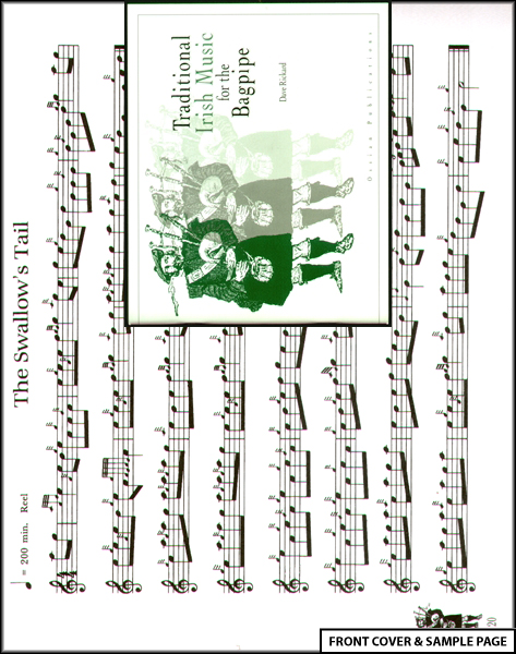 Traditional Irish Music for Bagpipe Sheet Music Book Enlarged Preview