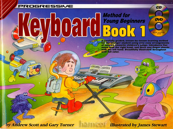 Progressive Keyboard Method Young Beginner 1 Tutor Music Book &DVD &CD &STICKERS Enlarged Preview