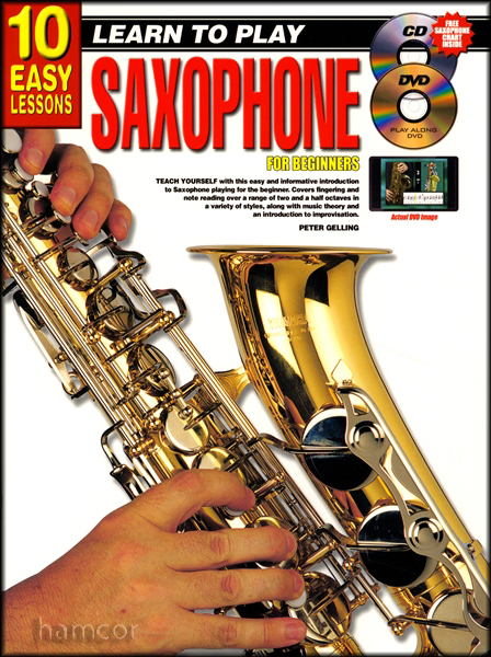 learn to play saxophone for beginners 10 easy lessons alto tenor book dvd cd ebay. Black Bedroom Furniture Sets. Home Design Ideas
