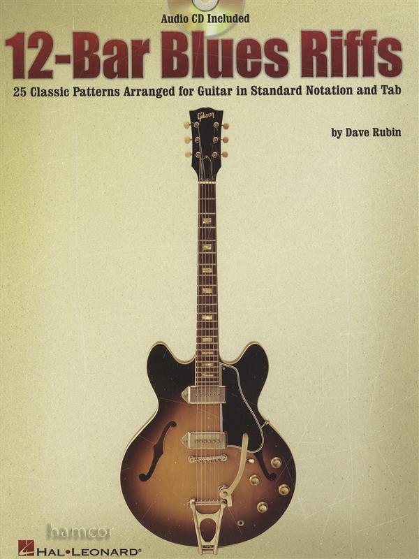 12 bar blues riffs guitar tab sheet music book cd 25 classic patterns dave rubin ebay. Black Bedroom Furniture Sets. Home Design Ideas