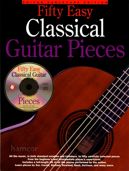 fifty easy classical guitar pieces tab music book cd beginner to intermediate ebay. Black Bedroom Furniture Sets. Home Design Ideas