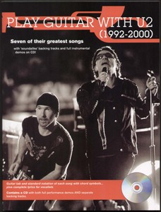 Play Guitar With U2 1992-2000 TAB Music Book +CD NEW Enlarged Preview