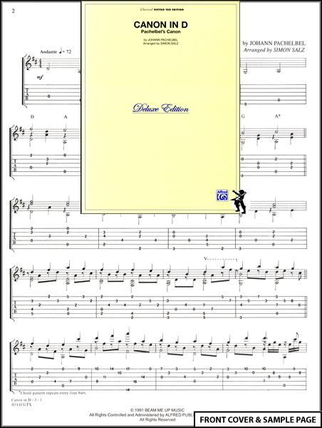 Piano piano tabs canon in d : Guitar : canon in d guitar tabs Canon In and Canon In D Guitar ...