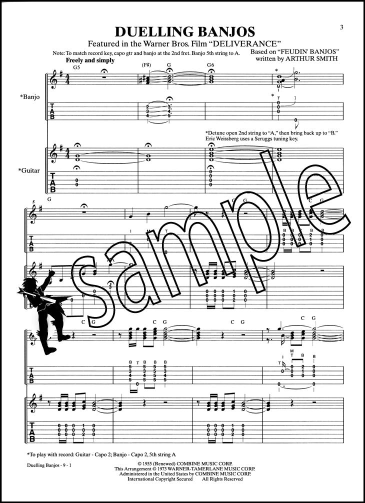 Duelling Banjos Banjo TAB u0026 Guitar TAB Music Booklet Sheet Music Deliverance : eBay