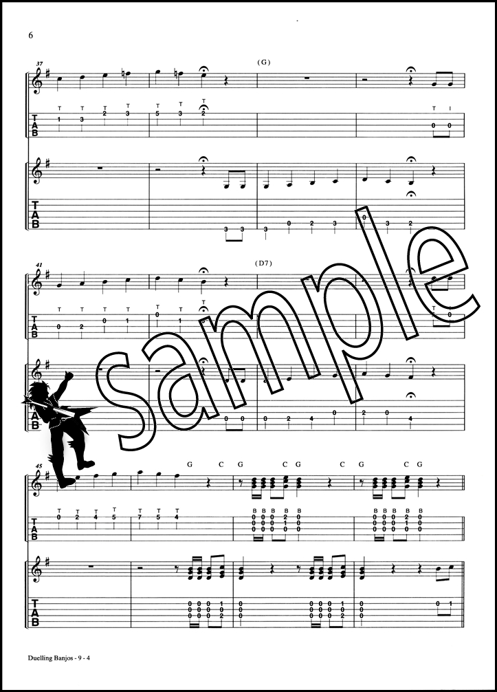 duelling banjos banjo tab guitar tab music booklet sheet music deliverance ebay. Black Bedroom Furniture Sets. Home Design Ideas