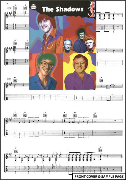 The Shadows Guitar Legends TAB Sheet Music Hank Marvin Enlarged Preview