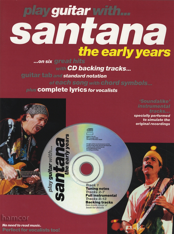 play guitar with santana the early years tab book play along backing tracks cd ebay. Black Bedroom Furniture Sets. Home Design Ideas