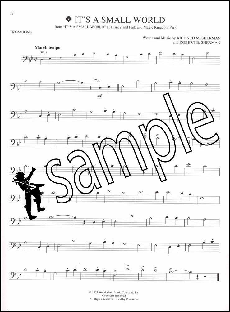 disney greats trombone instrumental play along sheet music book cd. Black Bedroom Furniture Sets. Home Design Ideas