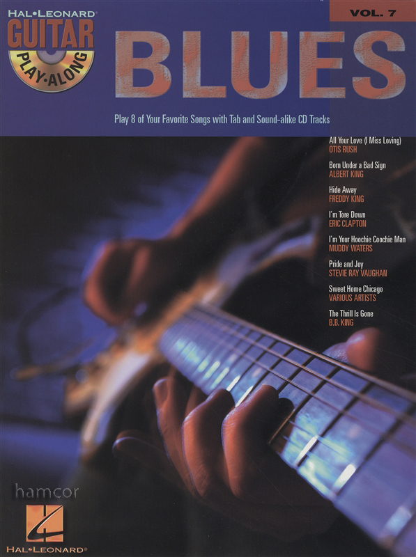 blues guitar play along volume 7 tab music book backing tracks cd ebay. Black Bedroom Furniture Sets. Home Design Ideas