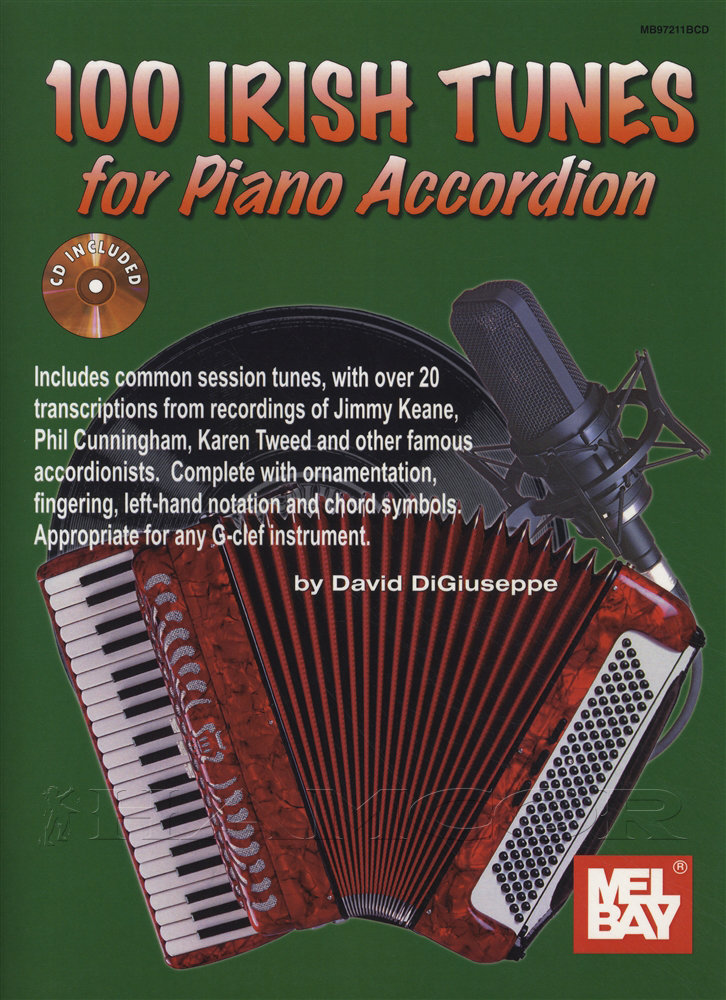 100 irish tunes for piano accordion sheet music book with for Old house tunes