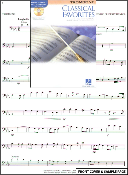 Classical Favorites for Trombone Sheet Music Book +CD Enlarged Preview