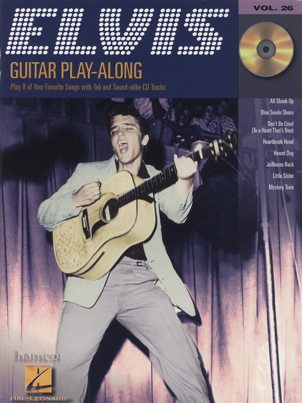 elvis presley guitar play along tab music book backing tracks cd ebay. Black Bedroom Furniture Sets. Home Design Ideas