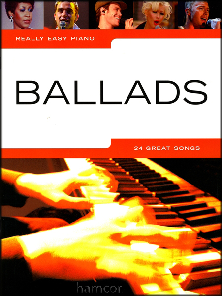 Really Easy Piano Ballads Sheet Music Book Coldplay The Kinks John Lennon Robbie Enlarged Preview