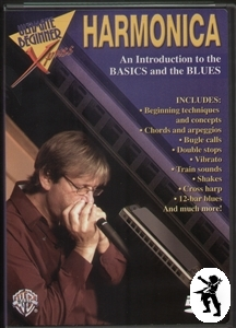 Introduction to Basics & Blues Harmonica Tuition DVD Enlarged Preview