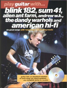 Play Guitar With Blink 182, Sum 41 etc TAB Book +CD NEW Enlarged Preview