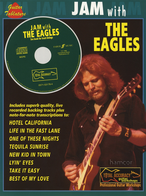jam with the eagles guitar tab music book play along backing tracks cd ebay. Black Bedroom Furniture Sets. Home Design Ideas