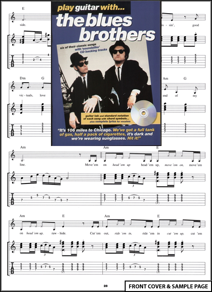 play guitar with the blues brothers tab music book cd. Black Bedroom Furniture Sets. Home Design Ideas