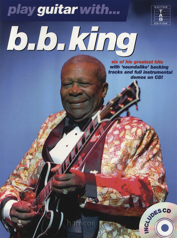 play guitar with bb king tab music book play along backing tracks cd ebay. Black Bedroom Furniture Sets. Home Design Ideas