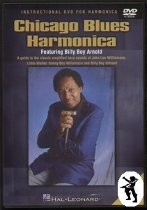 Chicago Blues Harmonica Billy Boy Arnold Tuition DVD Enlarged Preview