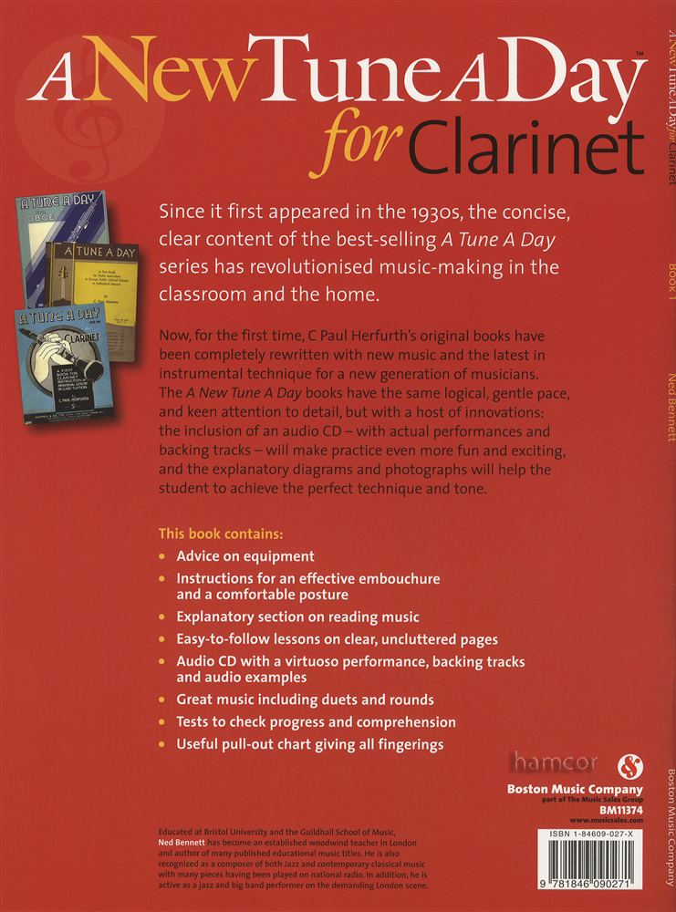 A New Tune A Day For Clarinet Book 1 Cd Learn How To Play border=
