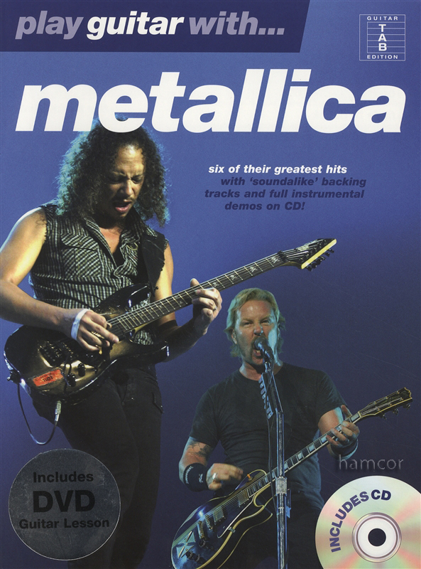 play guitar with metallica tab music book dvd play along backing tracks cd ebay. Black Bedroom Furniture Sets. Home Design Ideas