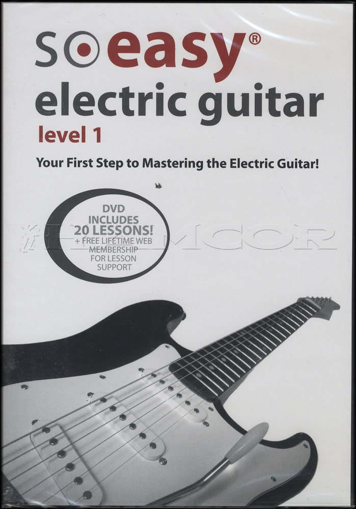 so easy electric guitar level 1 learn how to play tuition dvd ebay. Black Bedroom Furniture Sets. Home Design Ideas