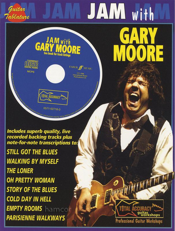 jam with gary moore guitar tab music book play along backing tracks cd ebay. Black Bedroom Furniture Sets. Home Design Ideas