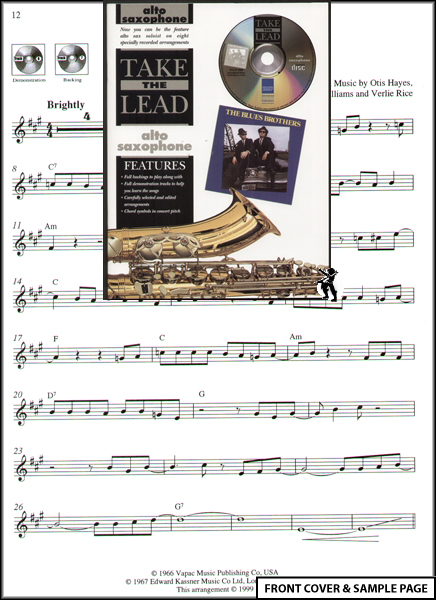 Take The Lead Alto Sax : Blues Brothers Music Book +CD Enlarged Preview