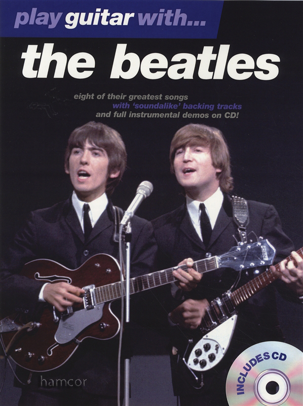 play guitar with the beatles tab music book play along backing tracks cd ebay. Black Bedroom Furniture Sets. Home Design Ideas