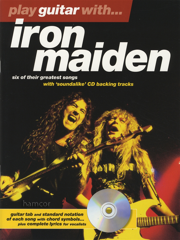 play guitar with iron maiden tab music book play along backing tracks cd ebay. Black Bedroom Furniture Sets. Home Design Ideas