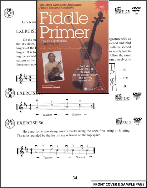 Fiddle Primer for Beginners Sheet Music Book +CD NEW Enlarged Preview