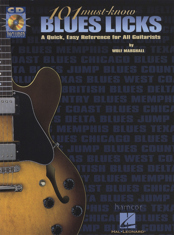 101 Must-Know Blues Licks Guitar TAB Music Book/CD by Wolf Marshall : eBay