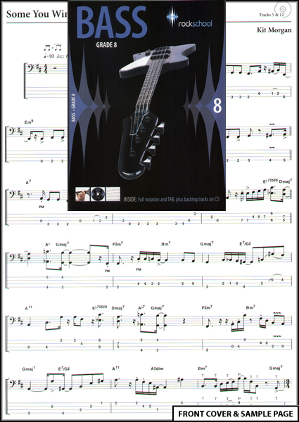 Grade books for guitar bass drums vocals piano and band based keys