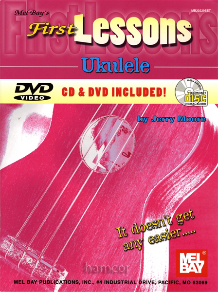 First Lessons Ukulele Uke Learn to How Play Book DVD CD Enlarged Preview