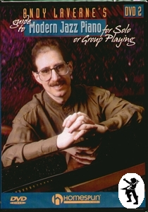 Andy Laverne's Guide To Modern Jazz Piano DVD 2 NEW Enlarged Preview