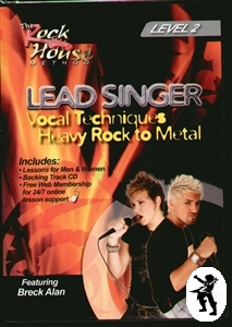 Lead Singer Vocal Techniques Heavy Rock To Metal DVD 2 Enlarged Preview