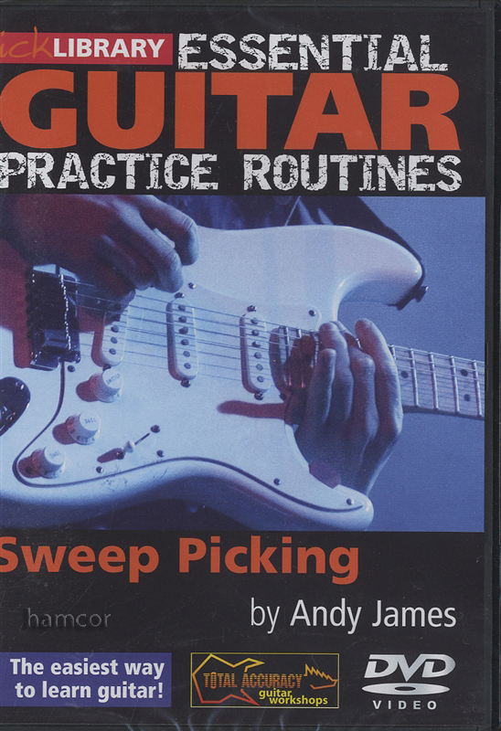 essential guitar practice routines sweep picking dvd lick library andy james ebay. Black Bedroom Furniture Sets. Home Design Ideas