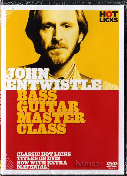 John Entwistle Bass Guitar Master Class Hot Licks Learn How to Play DVD The Who Enlarged Preview